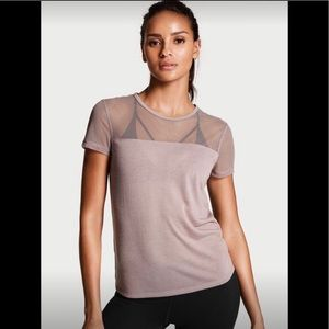 EUC Victoria's Secret Mesh Short Sleeve Tee Size S